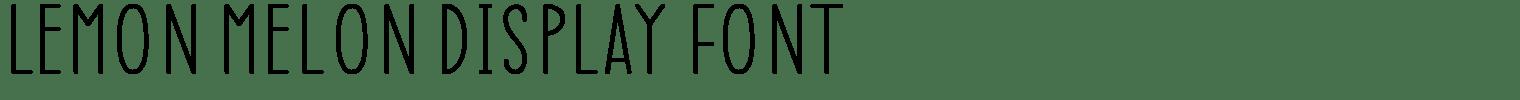 Lemon Melon Display Font