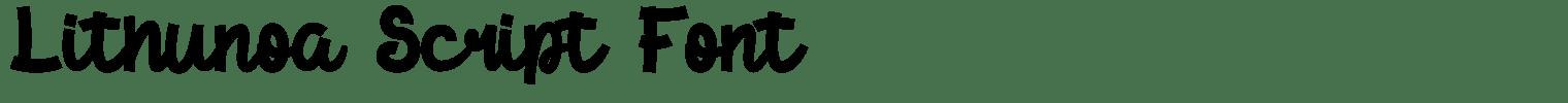 Lithunoa Script Font