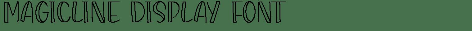 Magicline Display Font