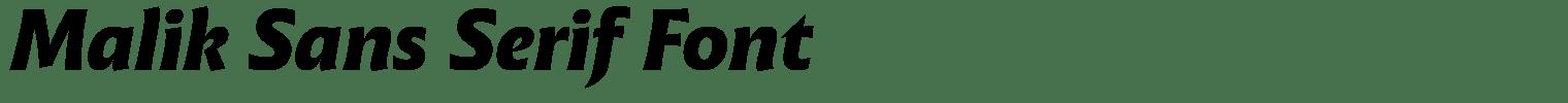 Malik Sans Serif Font