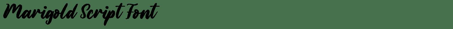 Marigold Script Font