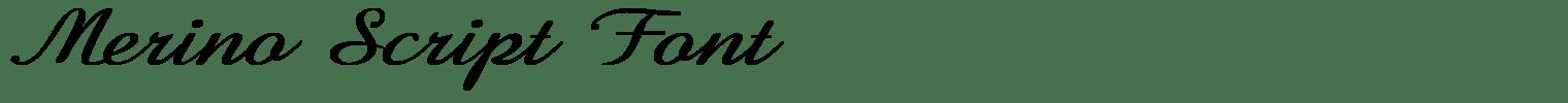 Merino Script Font