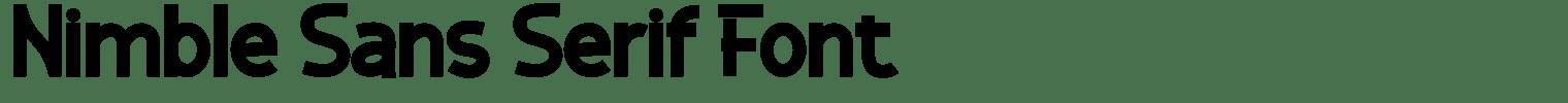 Nimble Sans Serif Font