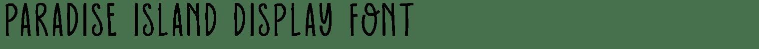 Paradise Island Display Font