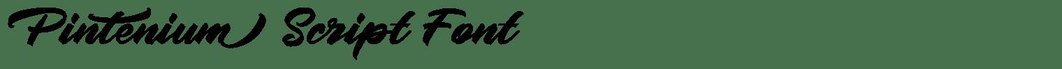 Pintenium Script Font