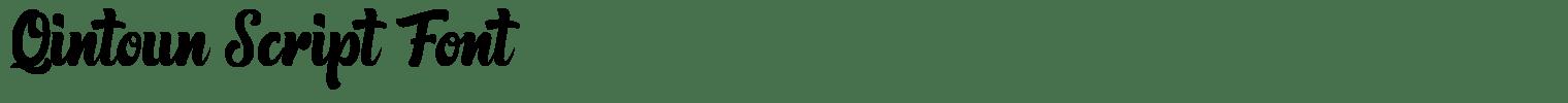 Qintoun Script Font