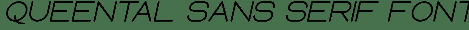 Queental Sans Serif Font