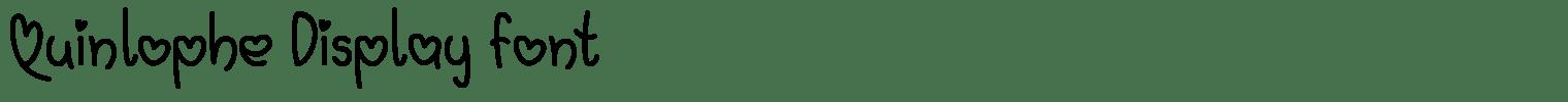 Quinlophe Display Font