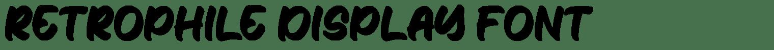 Retrophile Display Font