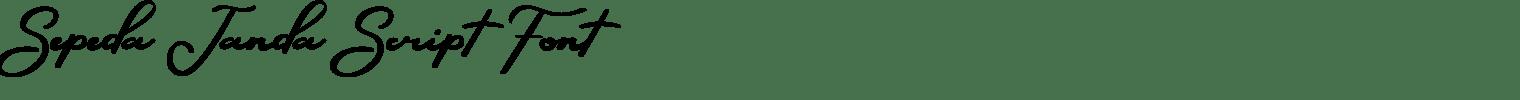 Sepeda Janda Script Font