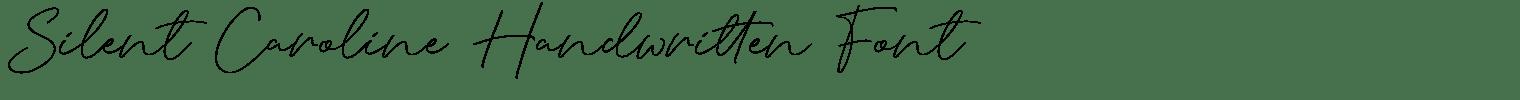 Silent Caroline Handwritten Font