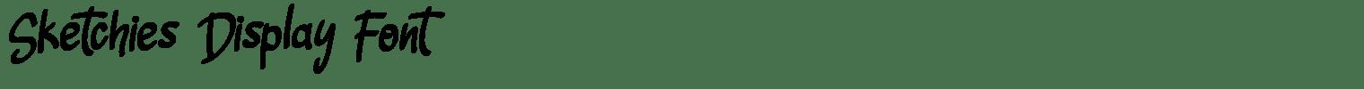 Sketchies Display Font