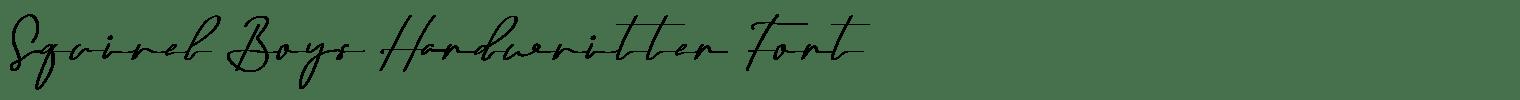 Squirel Boys Handwritten Font