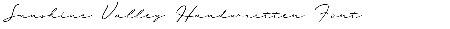 Sunshine Valley Handwritten Font
