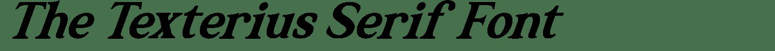 The Texterius Serif Font