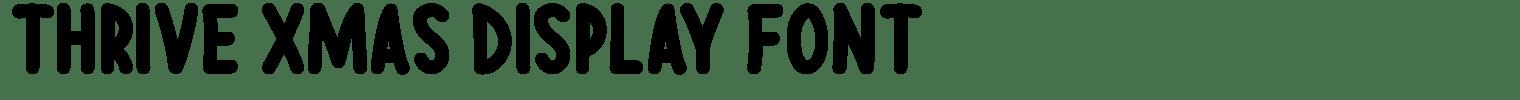 Thrive Xmas Display Font