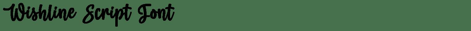 Wishline Script Font