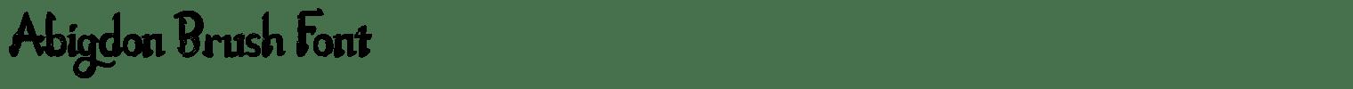 Abigdon Brush Font