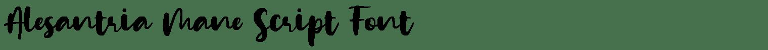 Alesantria Mane Script Font