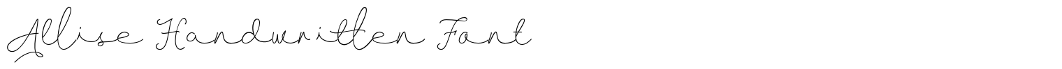 Allise Handwritten Font