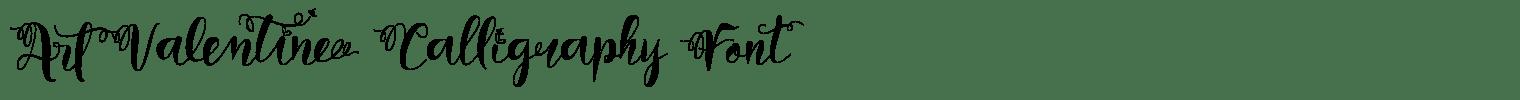 Art Valentine Calligraphy Font