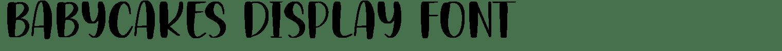 BABYCAKES Display Font