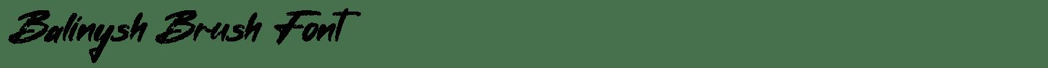 Balinysh Brush Font
