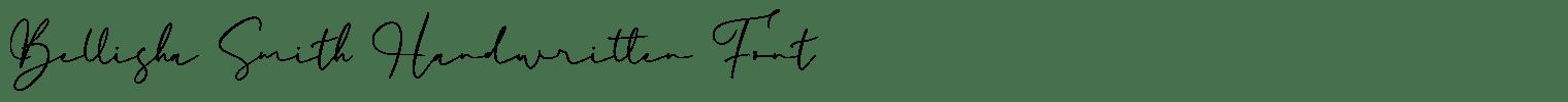 Bellisha Smith Handwritten Font