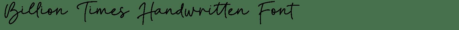 Billion Times Handwritten Font