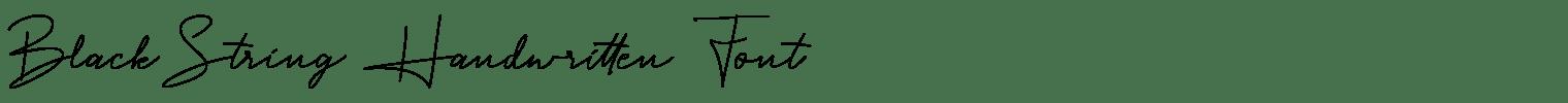 Black String Handwritten Font