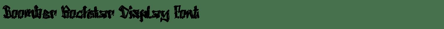 Boomber Rockstar Display Font