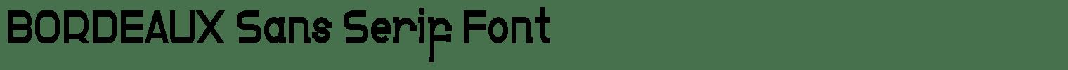 BORDEAUX Sans Serif Font