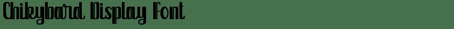 Chikybard Display Font