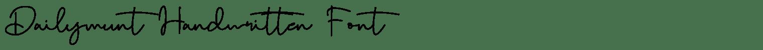Dailymunt Handwritten Font