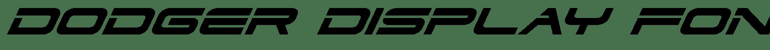 Dodger Display Font