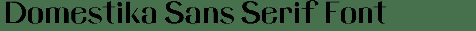Domestika Sans Serif Font
