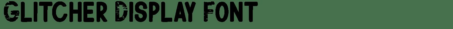 Glitcher Display Font