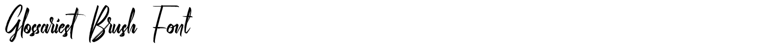 Glossariest Brush Font