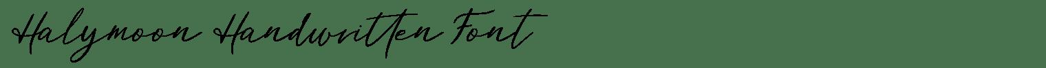 Halymoon Handwritten Font