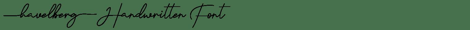 Havelberg Handwritten Font