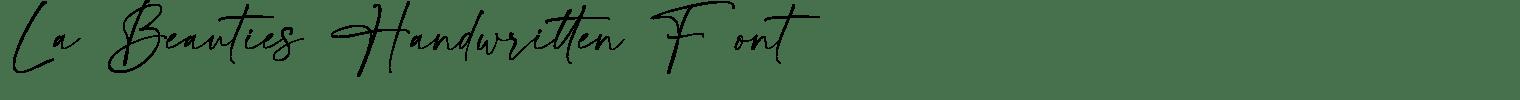 La Beauties Handwritten Font