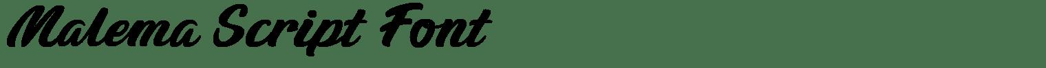 Malema Script Font