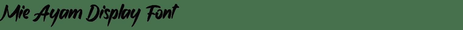 Mie Ayam Display Font