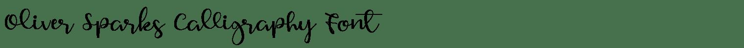 Oliver Sparks Calligraphy Font