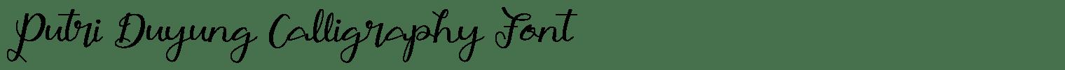 Putri Duyung Calligraphy Font
