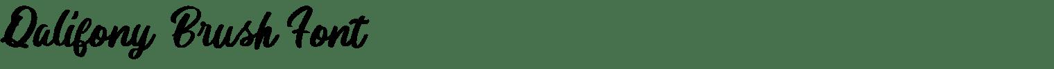 Qalifony Brush Font