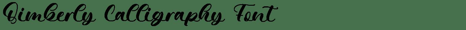 Qimberly Calligraphy Font
