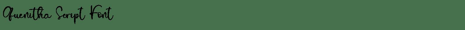 Quenitha Script Font
