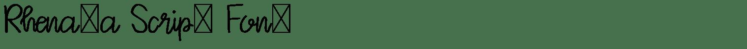 Rhenata Script Font
