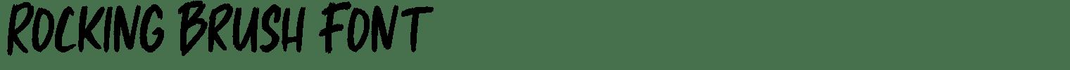 Rocking Brush Font